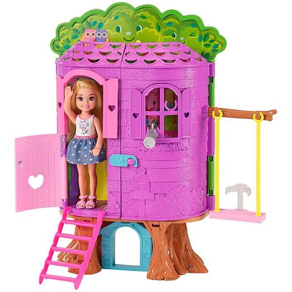 Mattel Barbie FPF83 Барби Игровой набор Домик на дереве Челси mattel mattel кукла ever after high мишель мермейд