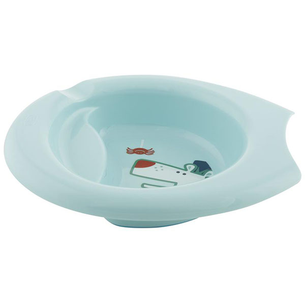 Chicco 340624046 Тарелка детская с разделителем Easy Feeding, 6мес.+, голубая