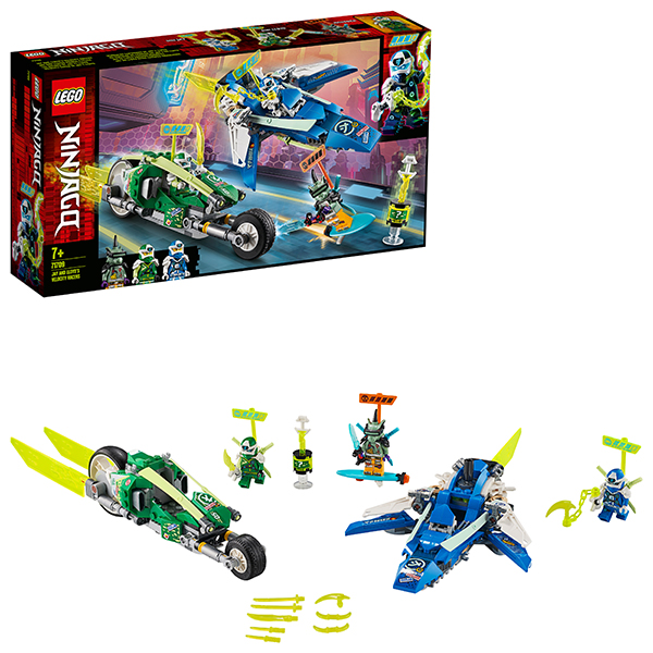 LEGO Ninjago 71709 Конструктор ЛЕГО Ниндзяго Скоростные машины Джея и Ллойда конструктор lego ninjago 70657 порт ниндзяго сити