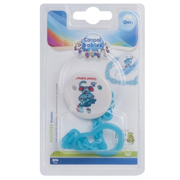 Canpol babies 250930397 Клипса-держатель для пустышек - Fairy Tale, 0+, цвет: синий
