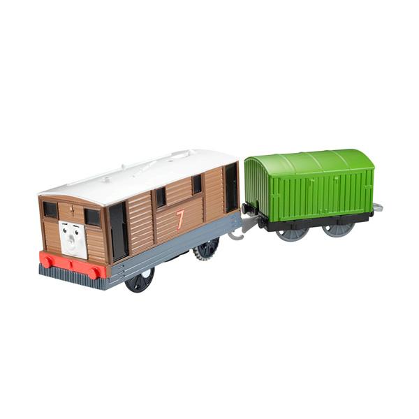 Mattel Thomas & Friends CDB70 Томас и друзья Паровозик Тоби с вагоном машинки hti паровозик roadsterz синий с вагоном звуковыми и световыми эффектами
