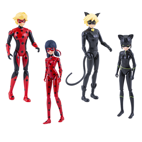 цена на Леди Баг 39945 Набор 4 героя с аксессуарами (куклы 13 см)