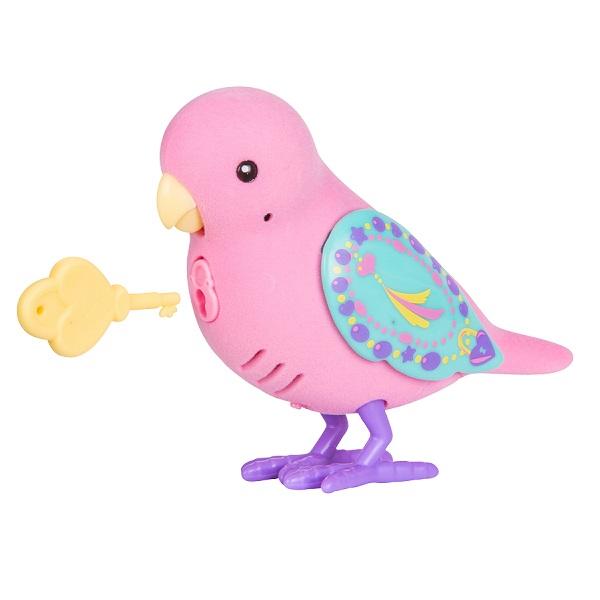 Little Live Pets 28395 Интерактивная птичка розовая с желтым клювом интерактивная игрушка digibirds птичка с мерцающими глазами