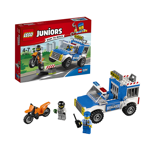Lego Juniors 10735 Лего Джуниорс Погоня на полицейском грузовике lego juniors 10739 лего джуниорс ниндзяго нападение акулы
