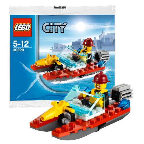 Lego City 30220 Конструктор Лего Город Катер пожарного