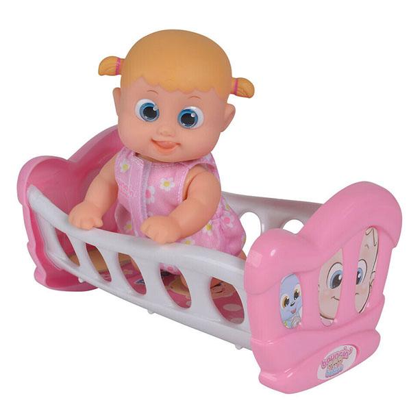 Bouncin' Babies 803002 Кукла Бони с кроваткой, 16 см bouncin babies бони с кроваткой разноцветный