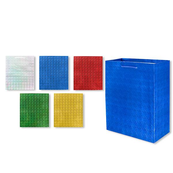 Пакет подарочный бумажный S1492 голография 45x32x13 см, 5 видов (в ассортименте) пакет подарочный бумажный garden tz6617 32 5 26 11 5 см в ассортименте