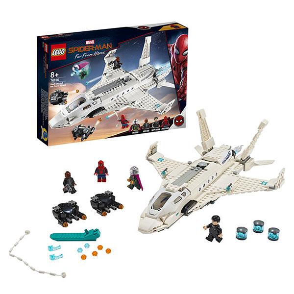 LEGO Super Heroes 76130 Конструктор ЛЕГО Супер Герои Реактивный самолёт Старка и атака дрона цены онлайн
