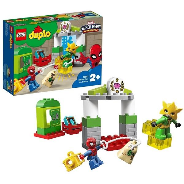 Lego Duplo 10893 Конструктор Лего Дупло Супер Герои Человек-паук: Человек-паук против Электро капитан америка удивительный человек паук 2 железный человек перчатки мультфильм детей игрушки передатчик