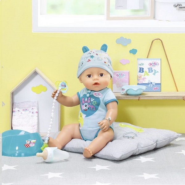 Zapf Creation Baby born 824-375 Бэби Борн Кукла-мальчик Интерактивная, 43 см