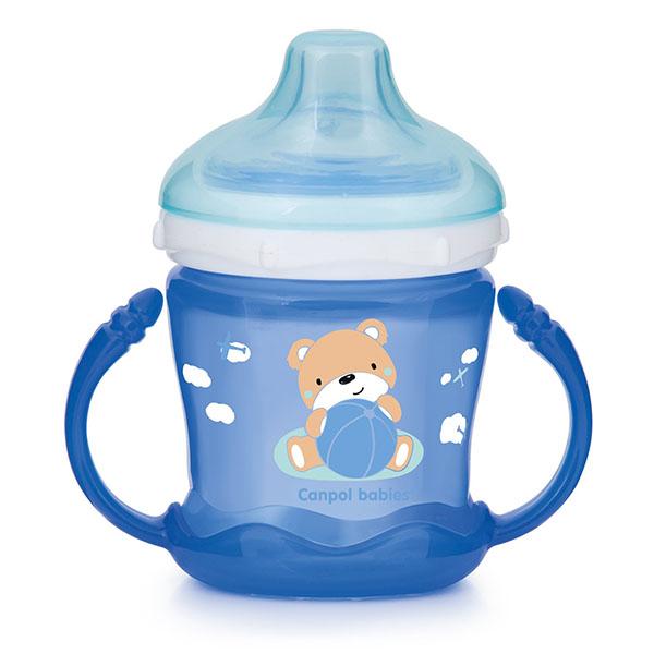 Canpol 250989258 Чашка-непроливайка sweet fun 180 мл,голубая