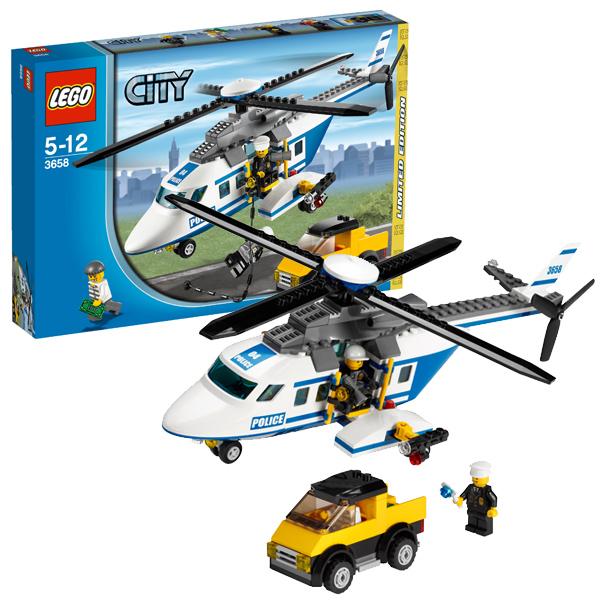 Lego City 3658 Конструктор Лего Город Полицейский вертолёт