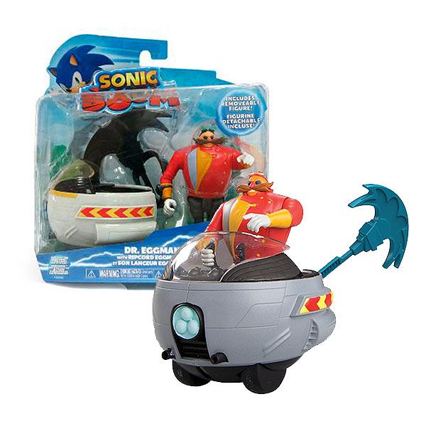 Sonic Boom T22062 Соник Бум Пусковое устройство с фигуркой 7,5 см, Эгман