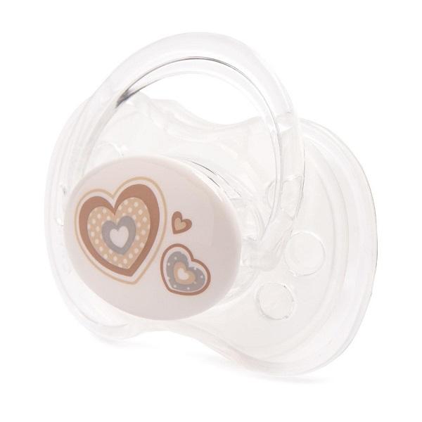 Canpol babies 250989186 Пустышка симметричная силиконовая, 6-18 Newborn baby, цвет: белый
