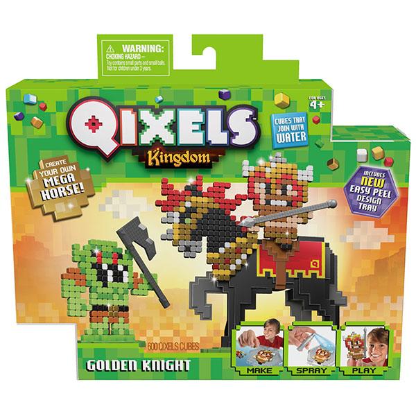 "Qixels 87130 Квикселс Набор для творчества ""Королевство. Золотой рыцарь"""