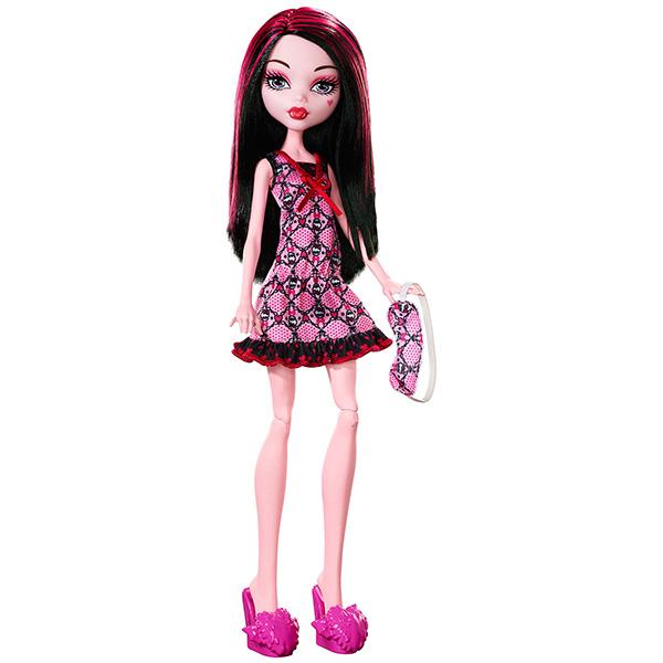 Mattel Monster High DPC41 Кукла Пижамная вечеринка Дракулаура monster high кукла дракулаура цвет платья розовый черный