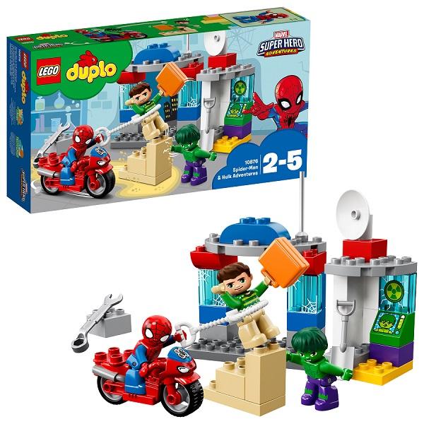 LEGO DUPLO 10876 Конструктор ЛЕГО ДУПЛО Супер Герои: Приключения Человека-паука и Халка