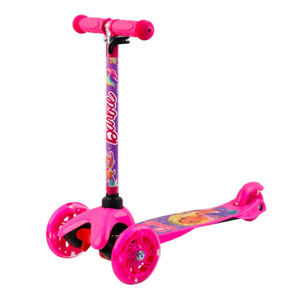 Barbie B4PV1 Самокат 3-х колесный c 3D-эффектом, розовый, размеры: 55х21,5х67см цена