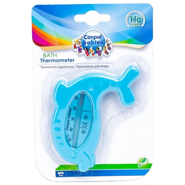 Canpol babies 250930622 Термометр для ванны, дельфин, синий