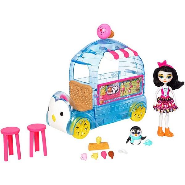 Mattel Enchantimals FKY58 Игровой набор Фургончик мороженого Прины Пингвины enchantimals пазл 64 магнитик фелисити лис и флик 03554