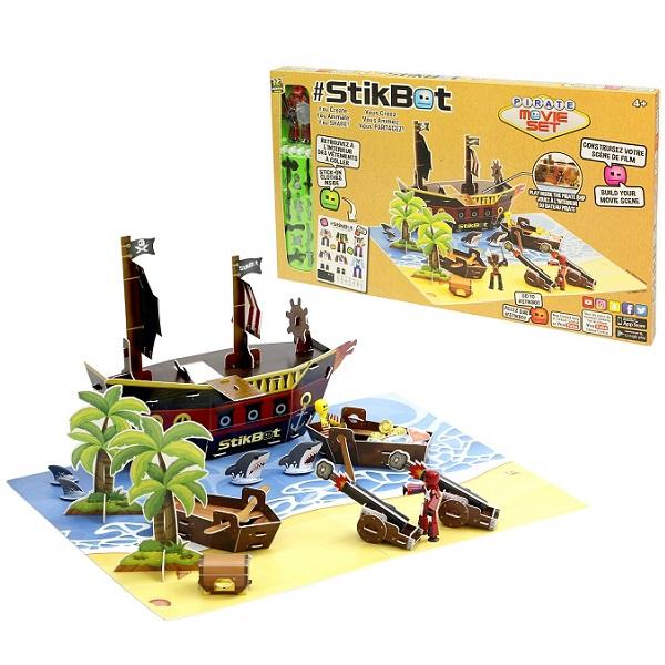 Stikbot TST623P Стикбот набор Пиратский корабль игровой набор stikbot tst615a
