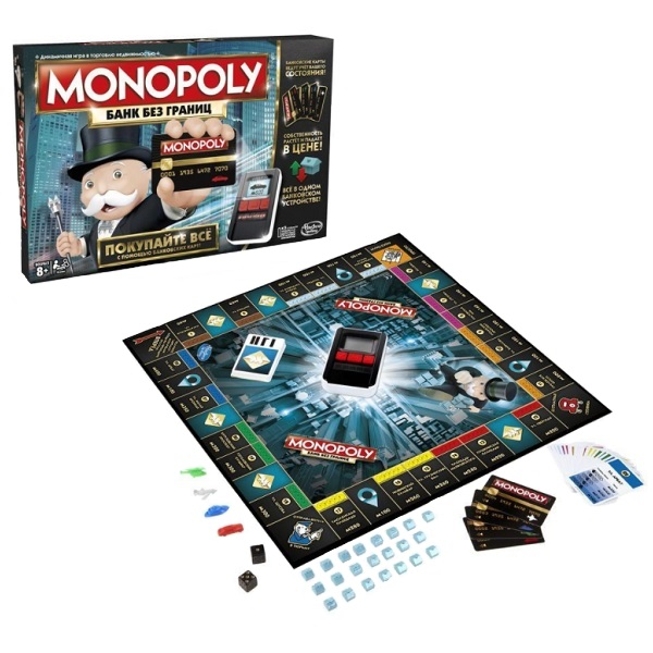 Hasbro Monopoly B6677 Монополия с банковскими картами (обновленная) monopoly deal настольные игры карточная игра монополия веселье картон классика мальчики подарок