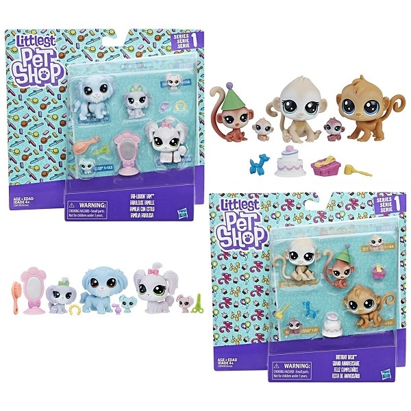 Hasbro Littlest Pet Shop B9346 Набор Семья петов доска пиши стирай 21 27 2 5см littlest pet shop на магнитах маркер с магнитом