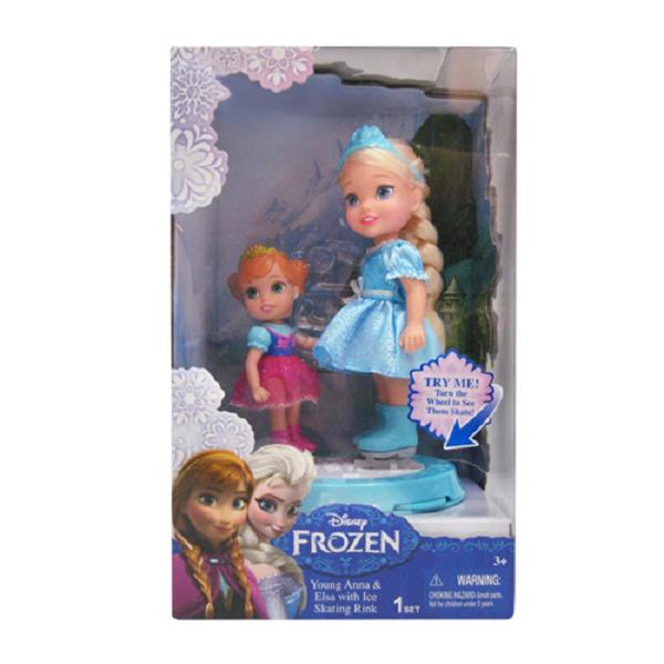 Disney Princess 310180 Принцессы Дисней Холодное Сердце Игровой набор Две куклы 15 см. на катке