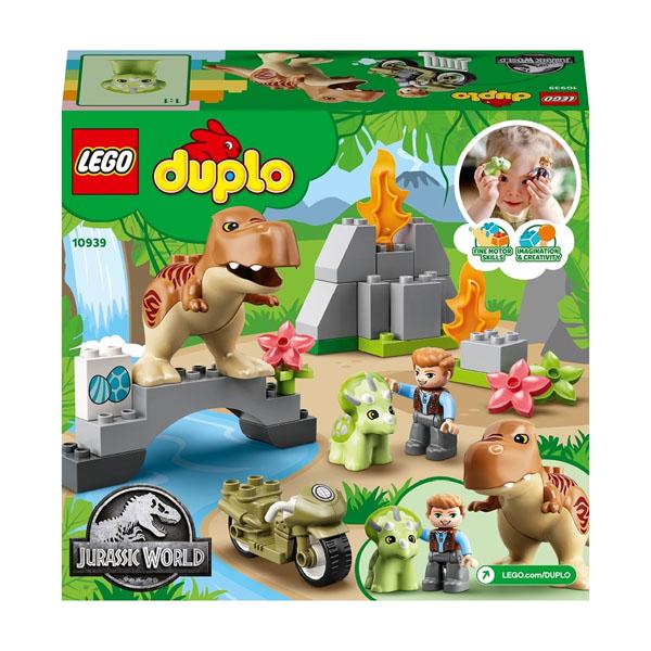 LEGO DUPLO 10939 Конструктор ЛЕГО ДУПЛО Jurassic World Побег динозавров: тираннозавр и трицератопс