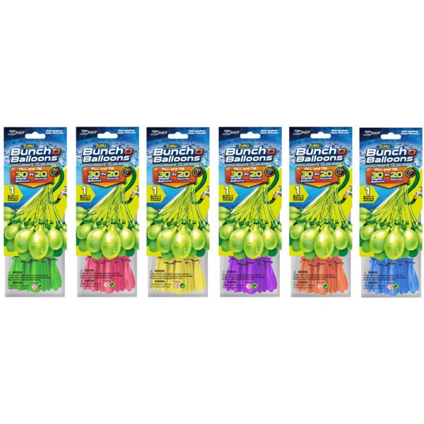 Bunch O Balloons Z1217 Простой набор: 30 шаров (в ассортименте) игровой набор bunch o balloons zuru стартовый набор миньоны из 100 шаров z5653