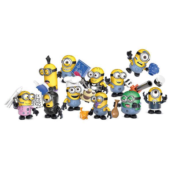 Mattel Mega Bloks FDM26 Мега Блокс Миньоны: Фигурки Миньонов в непрозрачной упаковке mymei 1 комплект 12шт набор гадкий я 2 миньоны рисунок игрушки в розницу 96408