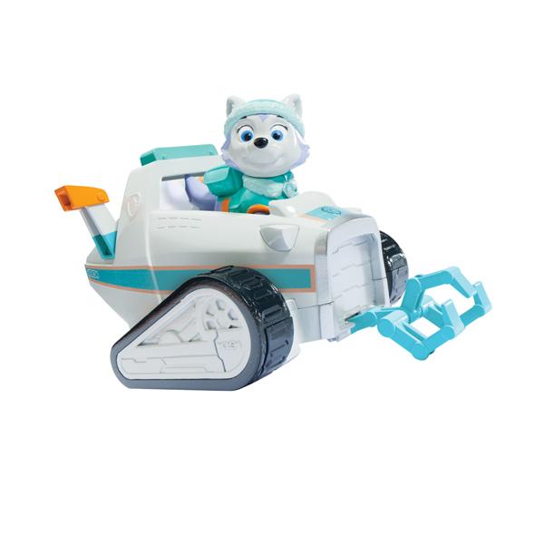 Paw Patrol 16601-Ever Щенячий патруль Машинка спасателя и щенок (Эверест)