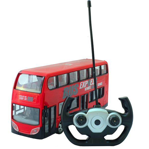 HK Industries 666-691AR Автобус двухэтажный красный, р/у