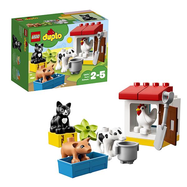 Lego Duplo 10870 Лего Дупло День на ферме игровые наборы tomy игровой набор приключения трактора джонни и лошади на ферме