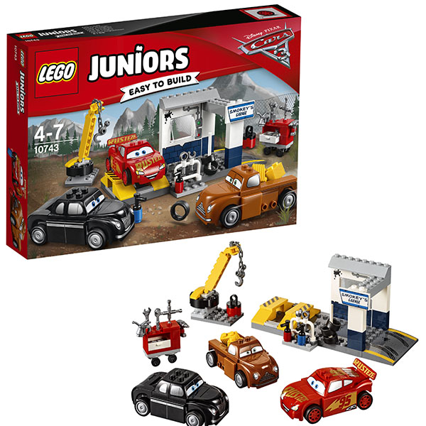 Lego Juniors 10743 Лего Джуниорс Тачки Гараж Смоуки lego juniors 10739 лего джуниорс ниндзяго нападение акулы