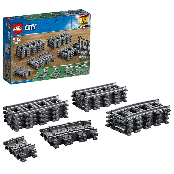 Lego City 60205 Конструктор Лего Город Рельсы model building kits compatible with lego city fire car 586 3d blocks educational model