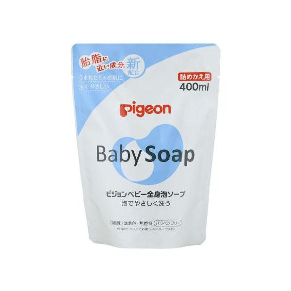 PIGEON 083522 Мыло-пенка для младенцев, 400 мл (сменный блок)