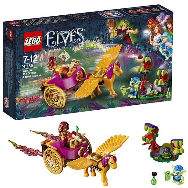 Lego Elves 41186 Конструктор Лего Эльфы Побег Азари из леса гоблинов конструктор lego elves похищение софи джонс 41182