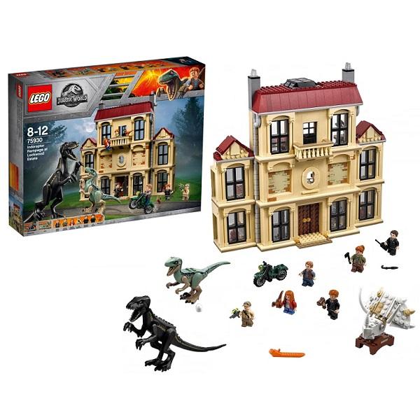 Lego Jurassic World 75930 Конструктор Лего Мир Юрского Периода Нападение индораптора в поместье лапы динозавра jurassic world