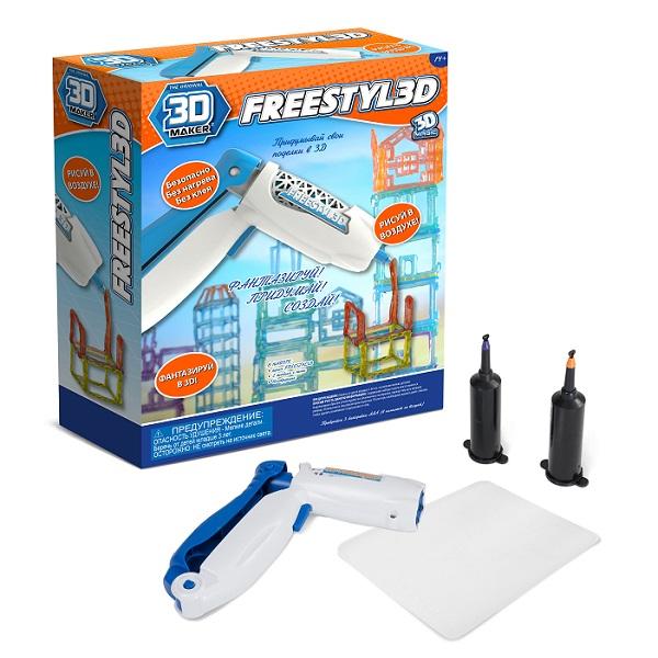 3D Magic 91002 3D-ручка для создания объемных моделей FreestylE 3D 3d magic два дополнительных катриджа 3d magic freestyle 3d с гелем