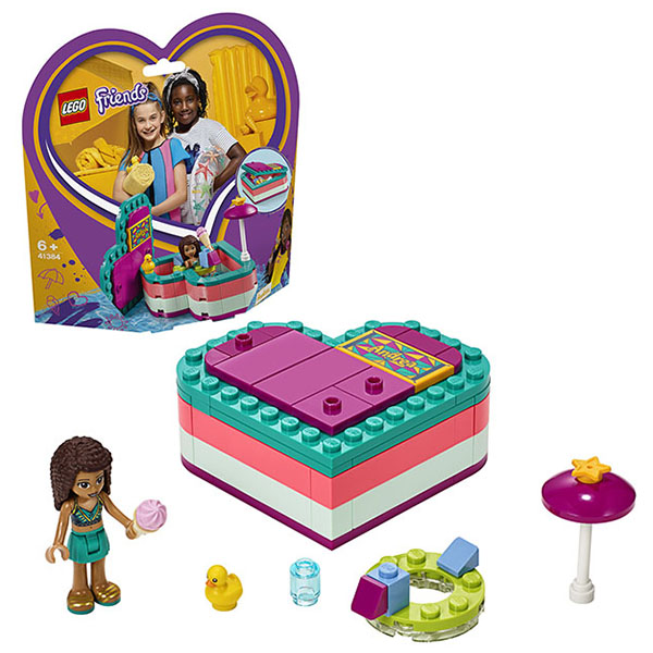 Фото - LEGO Friends 41384 Конструктор ЛЕГО Подружки Летняя шкатулка-сердечко для Андреа lego friends скоростной катер андреа 41316