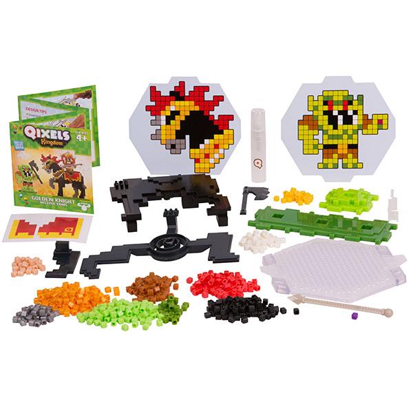Qixels 87130 Квикселс Набор для творчества Королевство. Золотой рыцарь qixels 87053 квикселс набор для творчества машинка для создания 3d фигурок 3d принтер