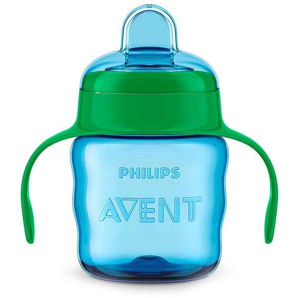 Philips Avent SCF551/05 Чашка с носиком и ручками Philips Avent серии Comfort голубой,200 мл,6 м+