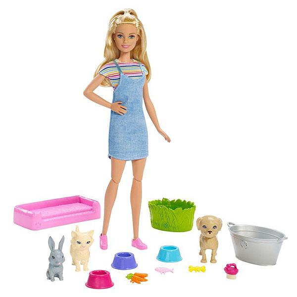 """Mattel Barbie FXH11 Барби Игровой набор """"Кукла и домашние питомцы"""" цена 2017"""