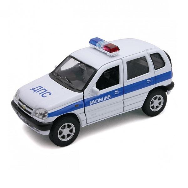 Welly 42379PB Велли Модель машины 1:34-39 Chevrolet Niva МИЛИЦИЯ ДПС welly 42377pb велли модель машины 1 34 39 lada 2108 милиция дпс