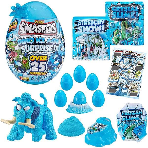 """Zuru Smashers 7455-3 Гигантское яйцо динозавра """"Ледниковый период"""" (высота 28 см), голубая рука"""