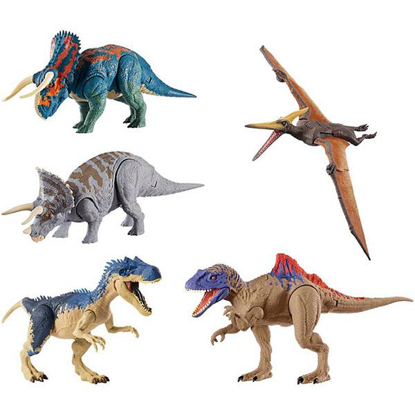 """цена на Mattel Jurassic World GDT38 Базовые фигурки динозавров """"Двойной удар"""" (в ассортименте)"""