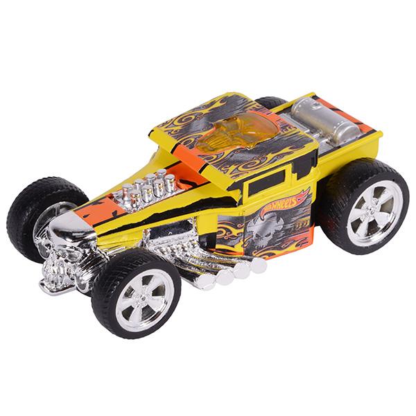 Hot Wheels HW90564 Машинка Хот вилс на батарейках со светом механическая, желтая 14 см