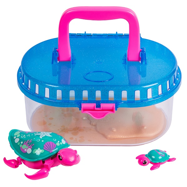 Little Live Pets 28414 Интерактивная черепашка с малышом в аквариуме электронные игрушки little live pets мама утка с утенком shelley