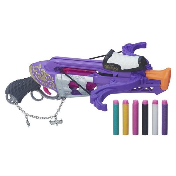 Hasbro Nerf B1698 N-Rebelle Чарм Арбалет Фортуна игрушечное оружие nerf hasbro n rebelle мини бластеры сладкая парочка 2 шт